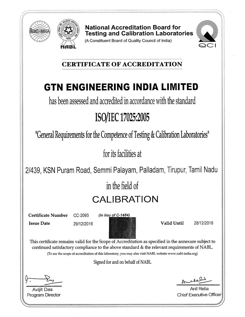 ISO/IEC 17025 : 2005 Accreditation